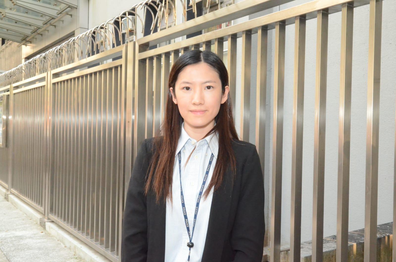 東九龍總區重案組女偵緝高級督察夏思苑交代案情。