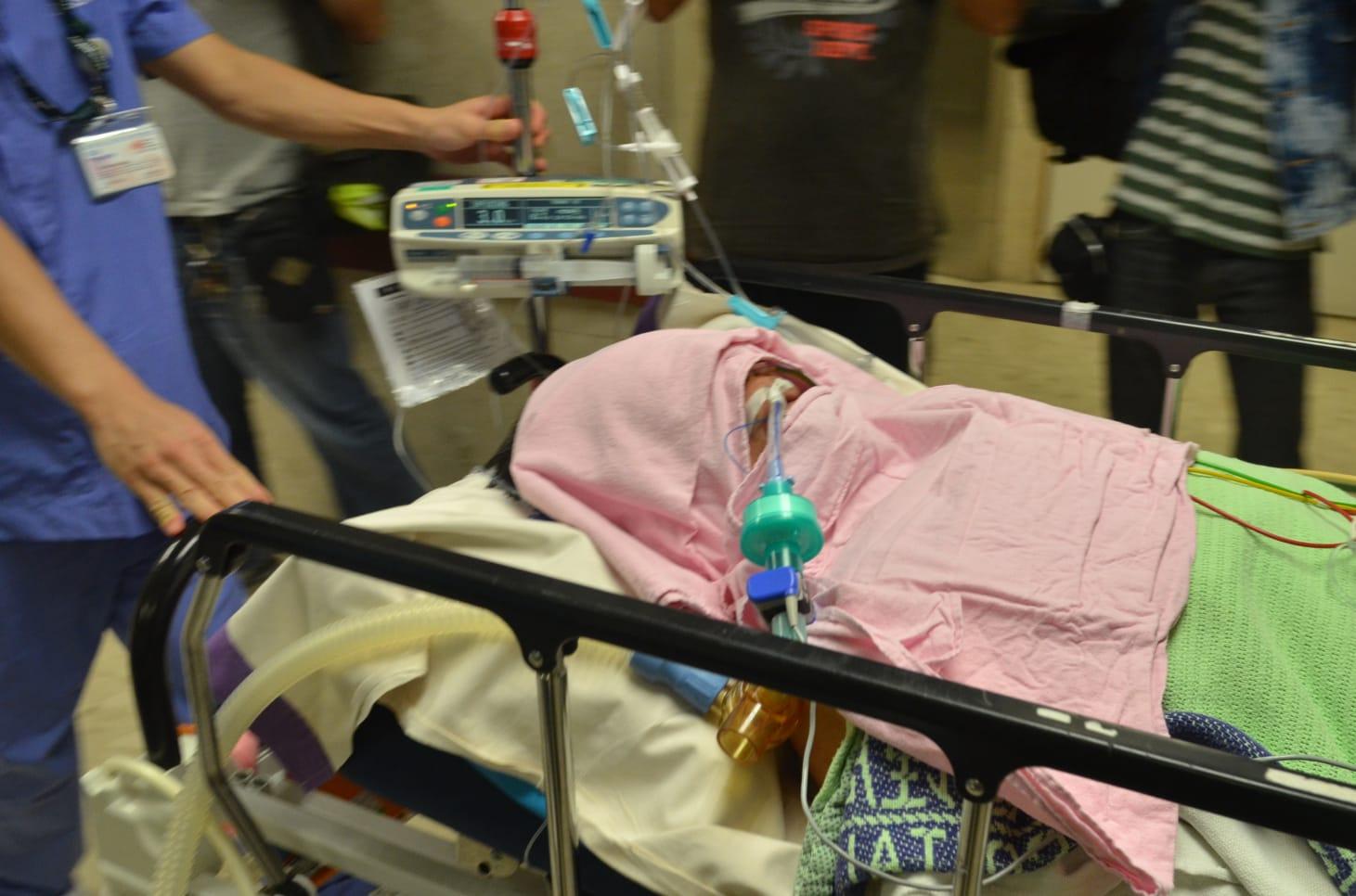 男疑犯今接受第2次受術,至下午5時手術完成。林思明攝