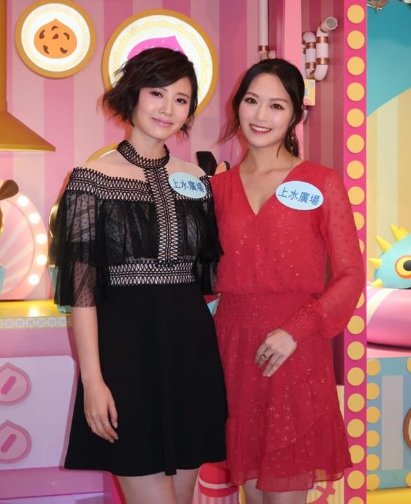 朱晨麗和馮盈盈分別與家人和工作過聖誕。