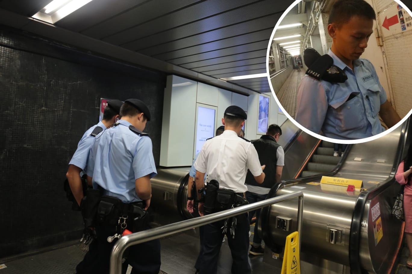 一名警員(小圖)到場調查時,遭涉案男子襲擊,面部受傷。