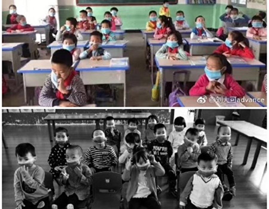 學生需要戴口罩上課。(網圖)