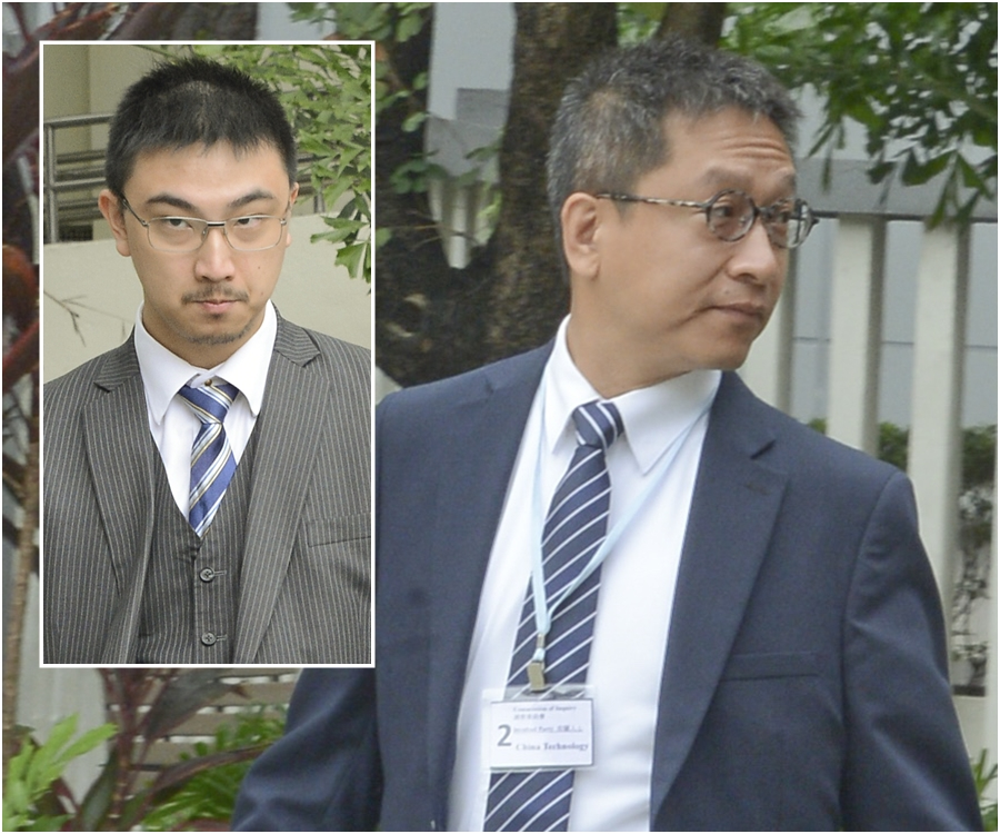 中科代表大律師蘇信恩(左);中科潘焯鴻(右)。資料圖片