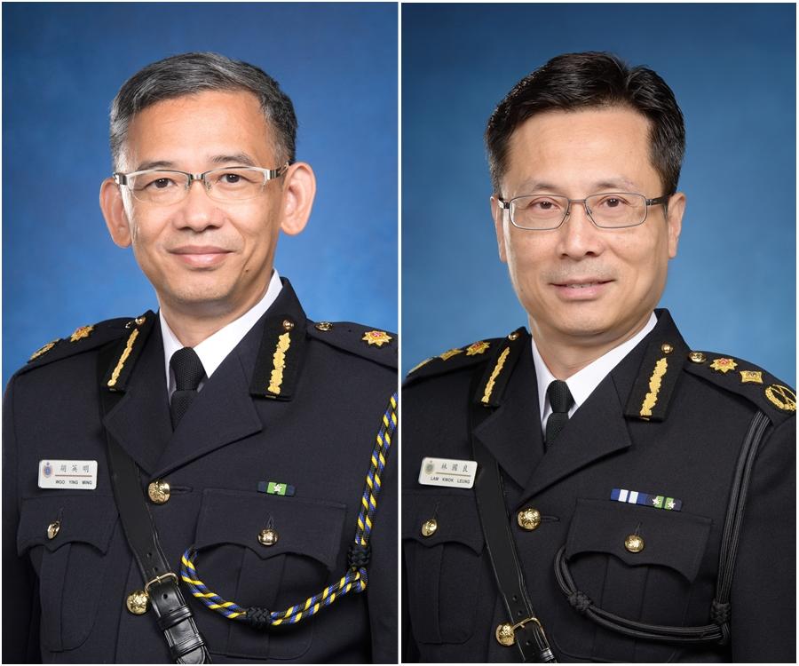 胡英明(左)接替林國良(右)。政府新聞處