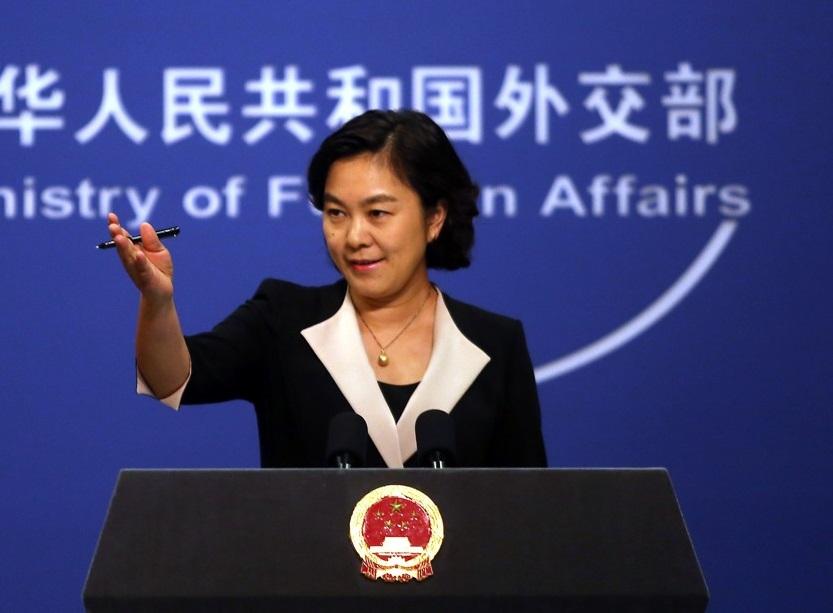 北京外交部發言人華春瑩。網上圖片