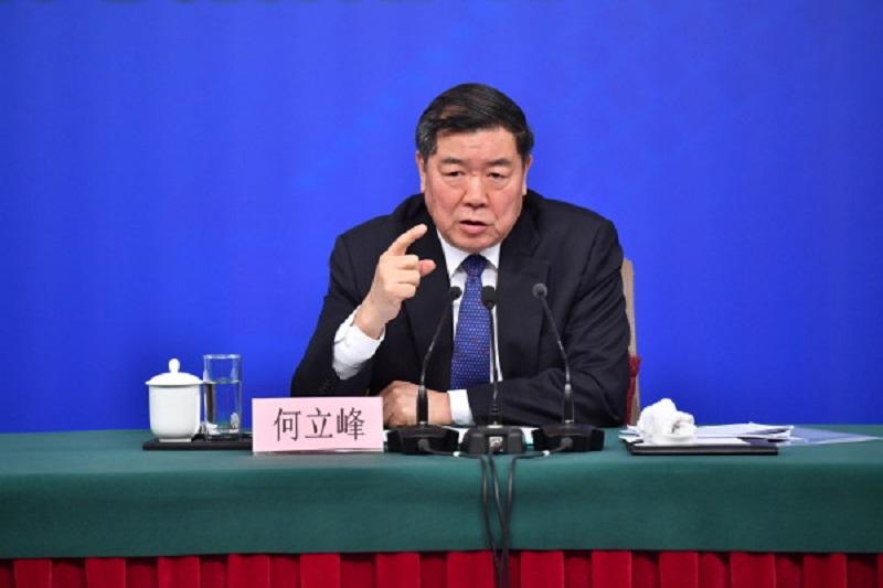 國家發改委主任何立峰。新華社圖片