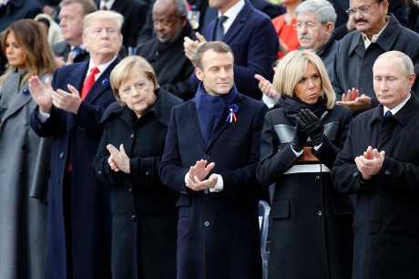 多国领袖出席一战终战百年纪念活动。