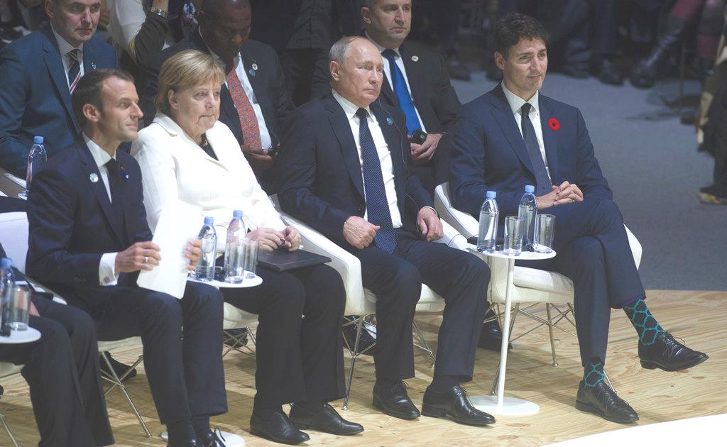 各国领袖参加巴黎和平论坛。