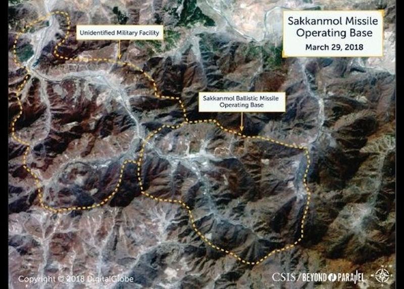 美智庫公布衛星圖,稱北韓有13處未公布的導彈基地。(網圖)