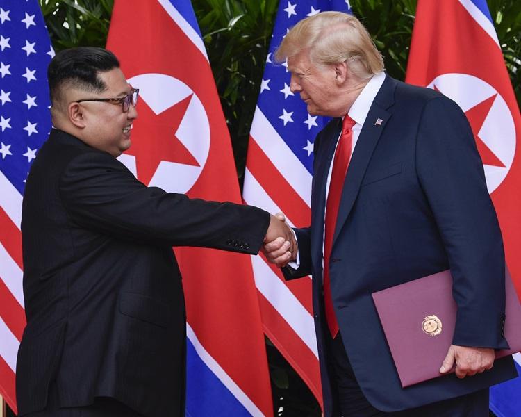 特朗普表示一早知道北韓暗藏秘密基地,更斥責《紐約時報》報假新聞。AP