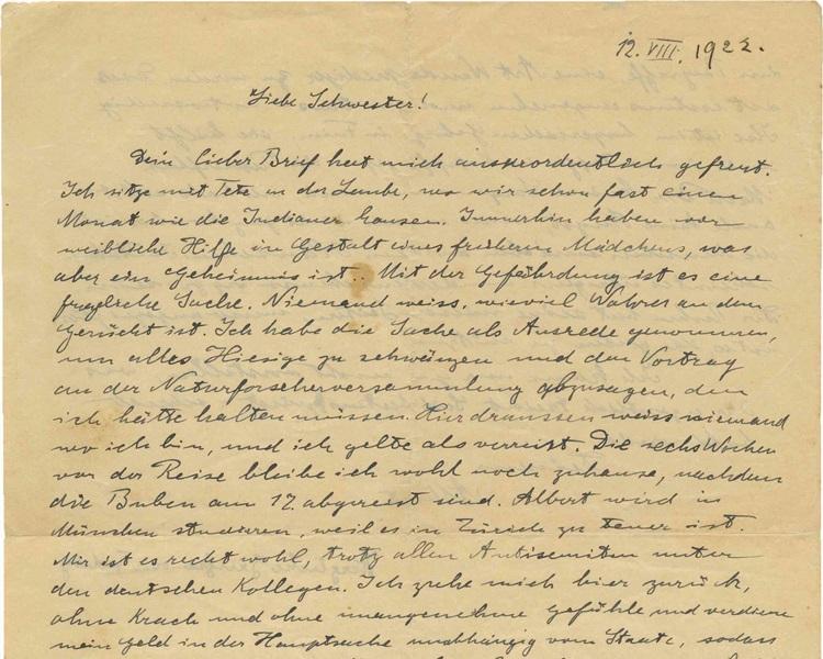 愛因斯坦憂慮德國冒起的反猶太主義。AP
