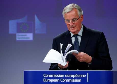 欧盟英国脱欧首席谈判代表巴尼耶。