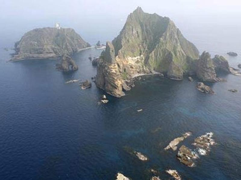 日韓爭議島嶼獨島(日本稱竹島)東北側180海里處,發生韓籍漁船與日籍漁船相撞事故。(網圖)