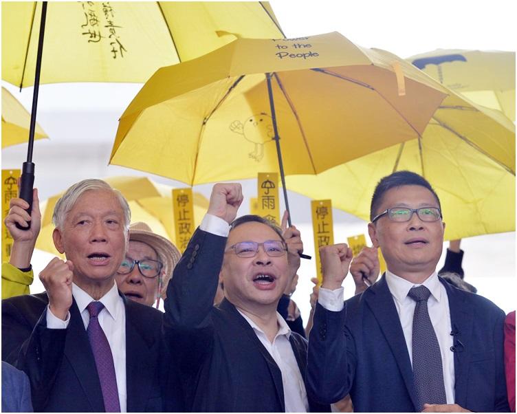 左起:朱耀明、戴耀廷、陳健民。