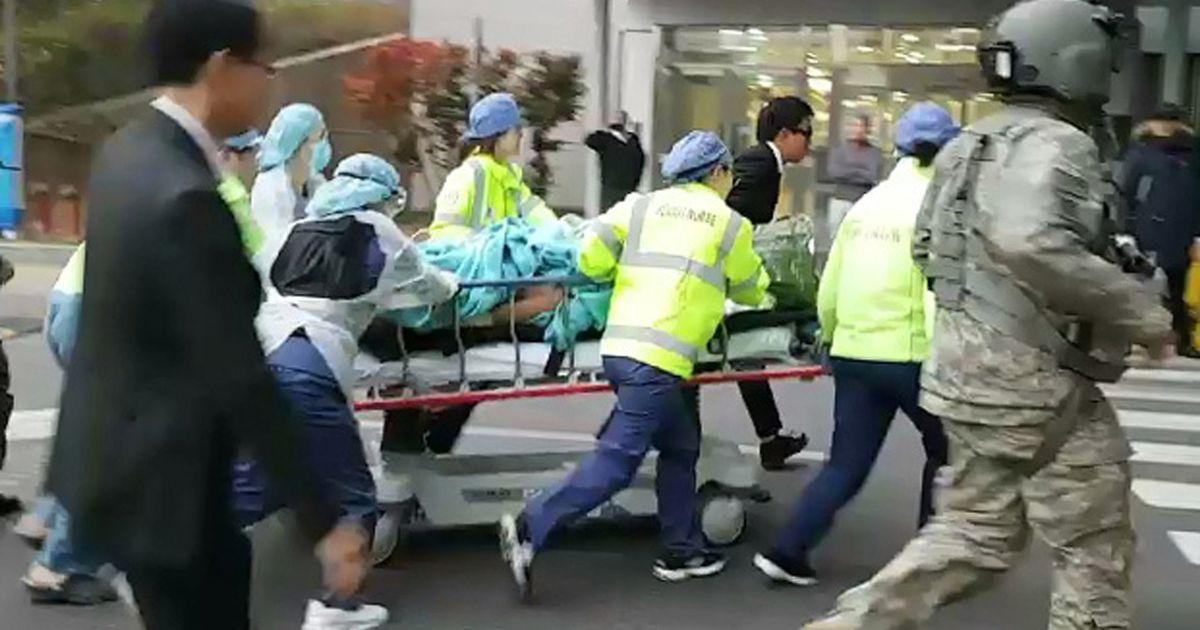吴青成去年受伤送院抢救情况。网图