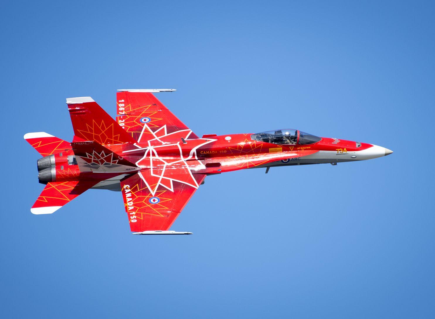 加拿大空军「CF-18」战斗机机队渐渐老化。加拿大空军图片