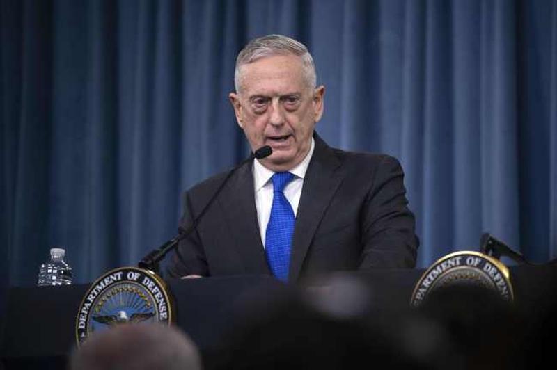 美国国防部长马蒂斯表示,美国和南韩将会缩小明年春季的「秃鹫」联合军演规模。(网图)
