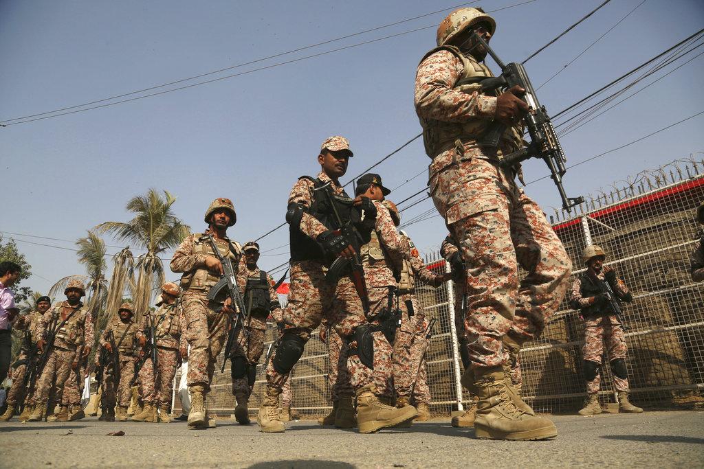 襲擊後當地加強保安。AP
