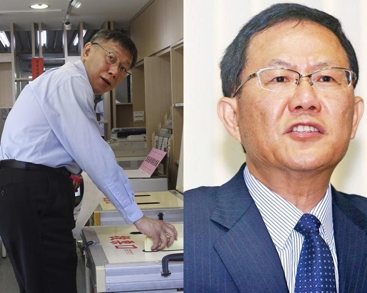 台北市戰況成選舉焦點,市長柯文哲暫時領先。AP/網圖