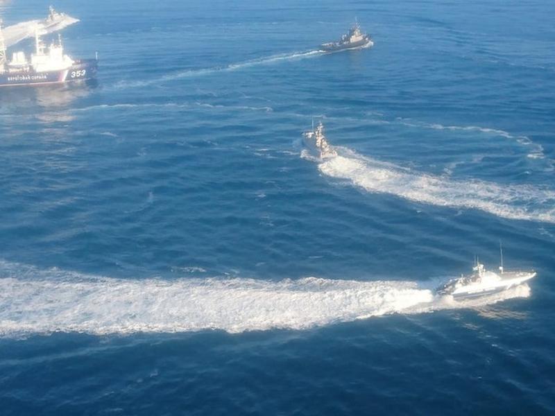 俄羅斯與烏克蘭爆發海上衝突,俄方阻止三艘烏克蘭海軍艦艇,從黑海經刻赤海峽進入亞速海,烏克蘭指有6名船員受傷,宣布實施戒嚴。(網圖)