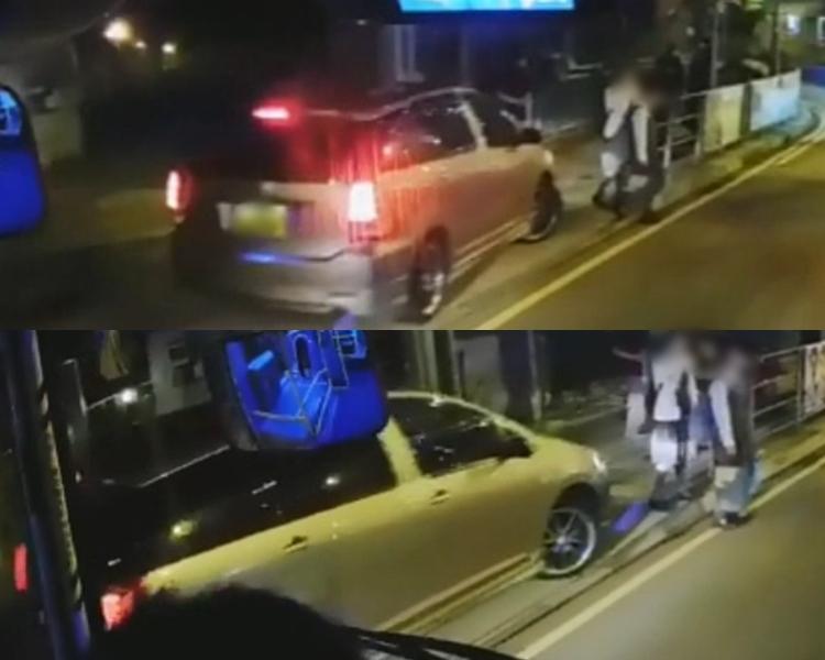 私家車剷上行人路嚇得兩名學生走出馬路。
