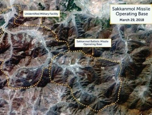 美智庫早前公布衛星圖,稱北韓有13處未公布的導彈基地。(網圖)