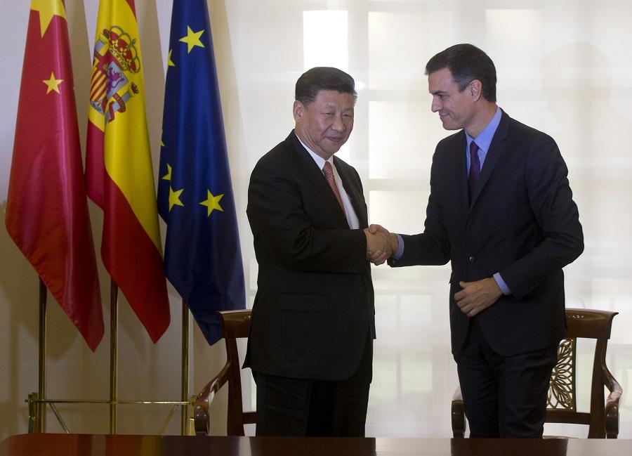 中國與西班牙認為「一帶一路」倡議是促進全球合作的重要方案。美聯社