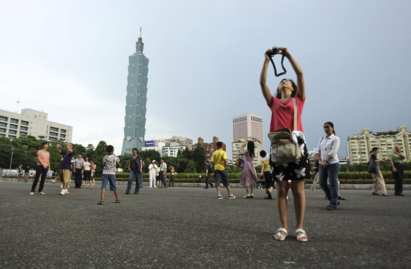 台灣放寬陸客來台觀光條件。美聯社資料圖片
