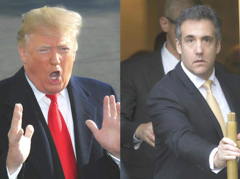 科恩(右)承認曾向國會調查人員說謊。AP