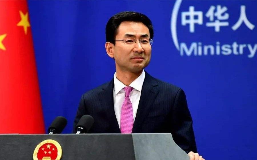 外交部發言人耿爽呼籲美國張開雙臂歡迎中國企業及學生。網上圖片