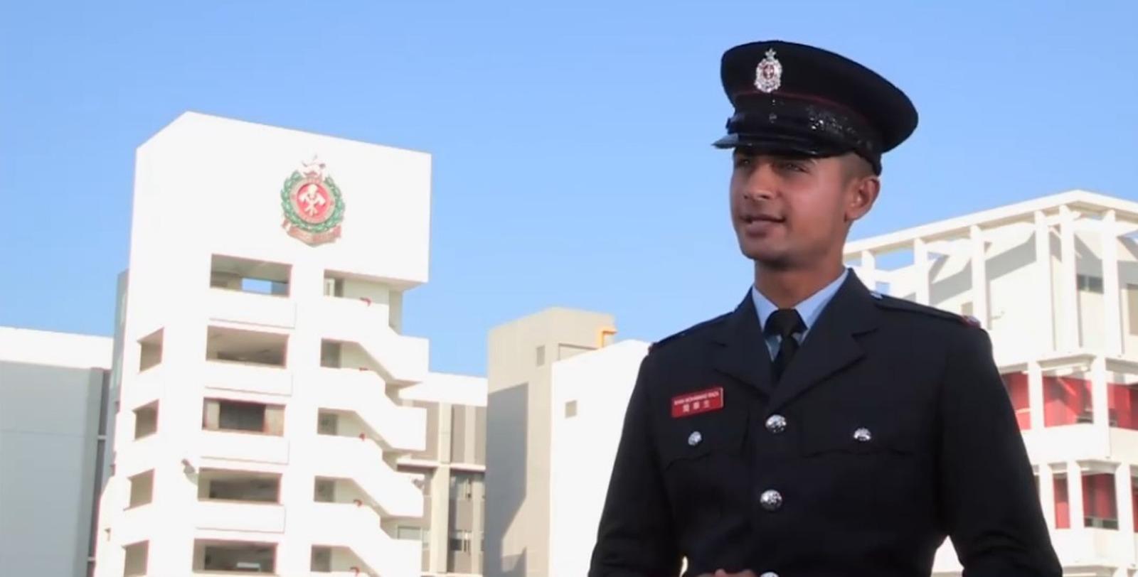 在港土生土長的巴基斯坦裔簡華生是今屆新紮消防員之一。