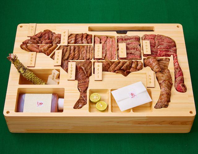 「鳥取和牛完整獨佔盒」,於今日獲健力士世界紀錄大全確認為全球最貴便當。網圖