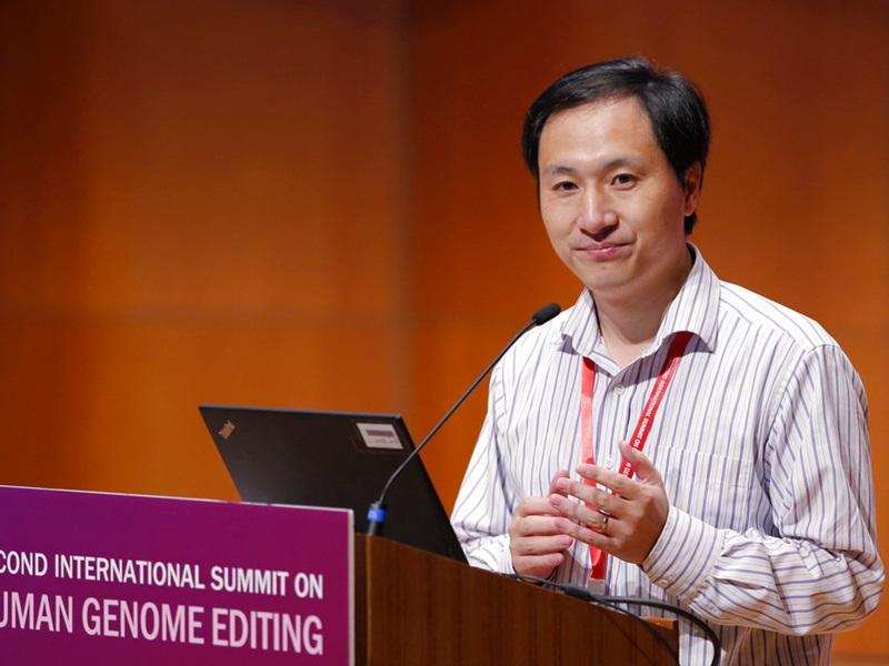 深圳学者贺建奎宣称成功培育对爱滋病毒免疫的双胞胎基因编辑婴儿。