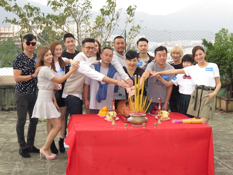 ViuTV劇集《好人好姐》人員舉行拜神儀式。