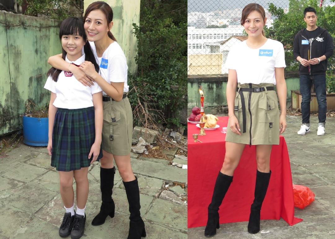 Elanne對飾演其女兒的童星江芷銦「愛不釋手」。