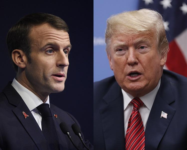 馬克龍與「黃背心」示威者達成共識,特朗普趁機抽水指為自己兩年前反對《巴黎協定》平反。AP