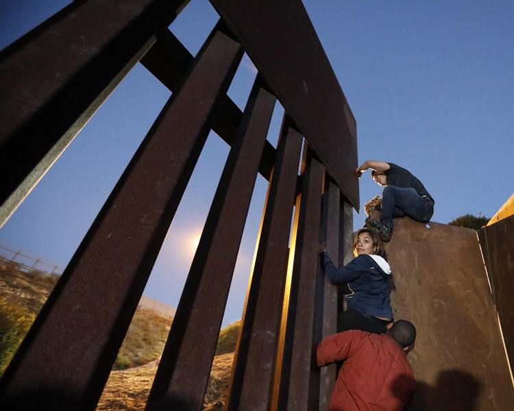 中美洲難民潮仍未止息。AP