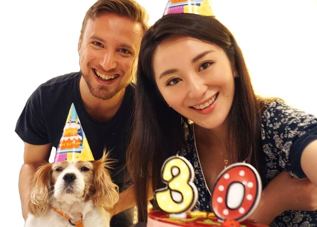 裕美今年7月獲男友送驚喜,慶祝其30歲生日。裕美IG