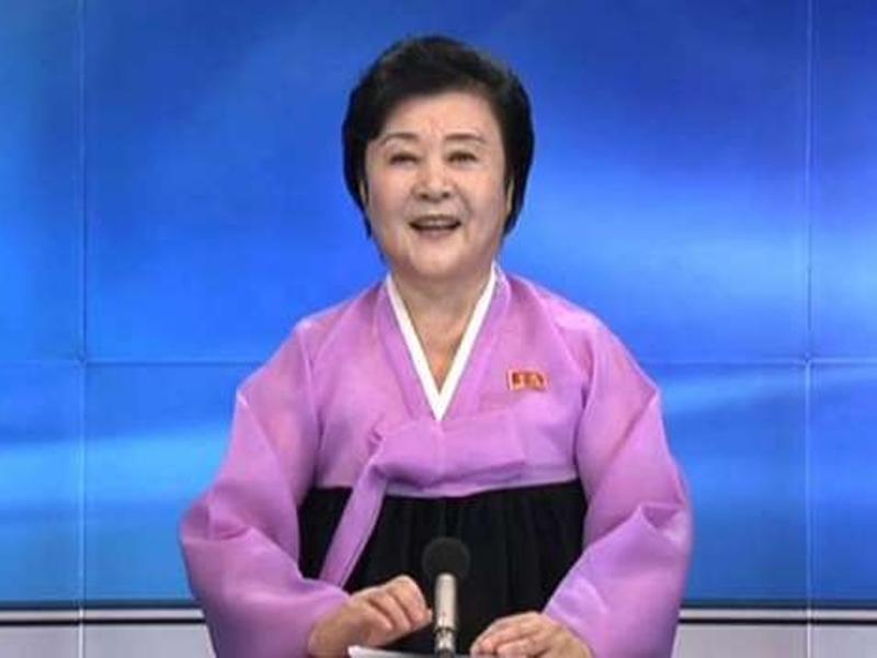現年75歲的北韓國寶級女主播李春姬,周三宣佈退休,正式結束47年的主播生涯,「咆哮」報導方式成為絕響。(網圖)