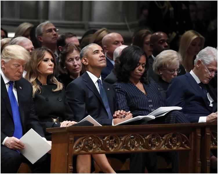 多名现任及前任总统均有出席。