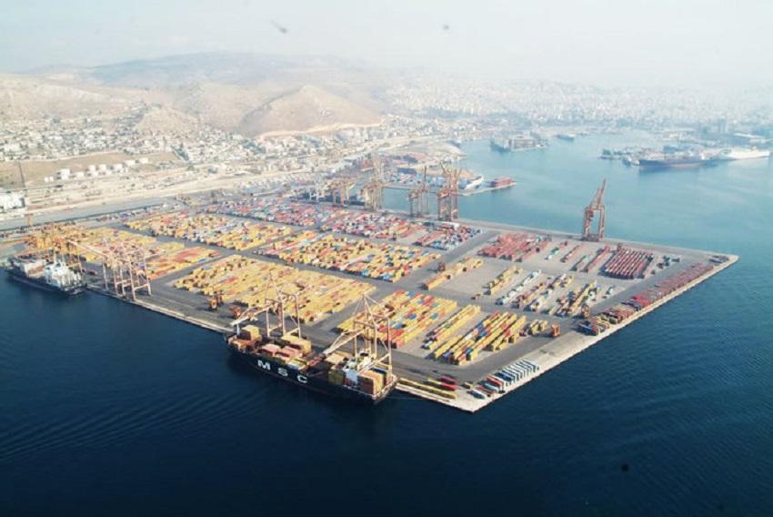 希臘國內最大港口彼里夫斯港。AP