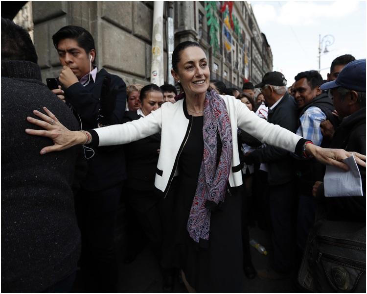 欣鮑姆是墨西哥城歷史上第一位女市長。AP
