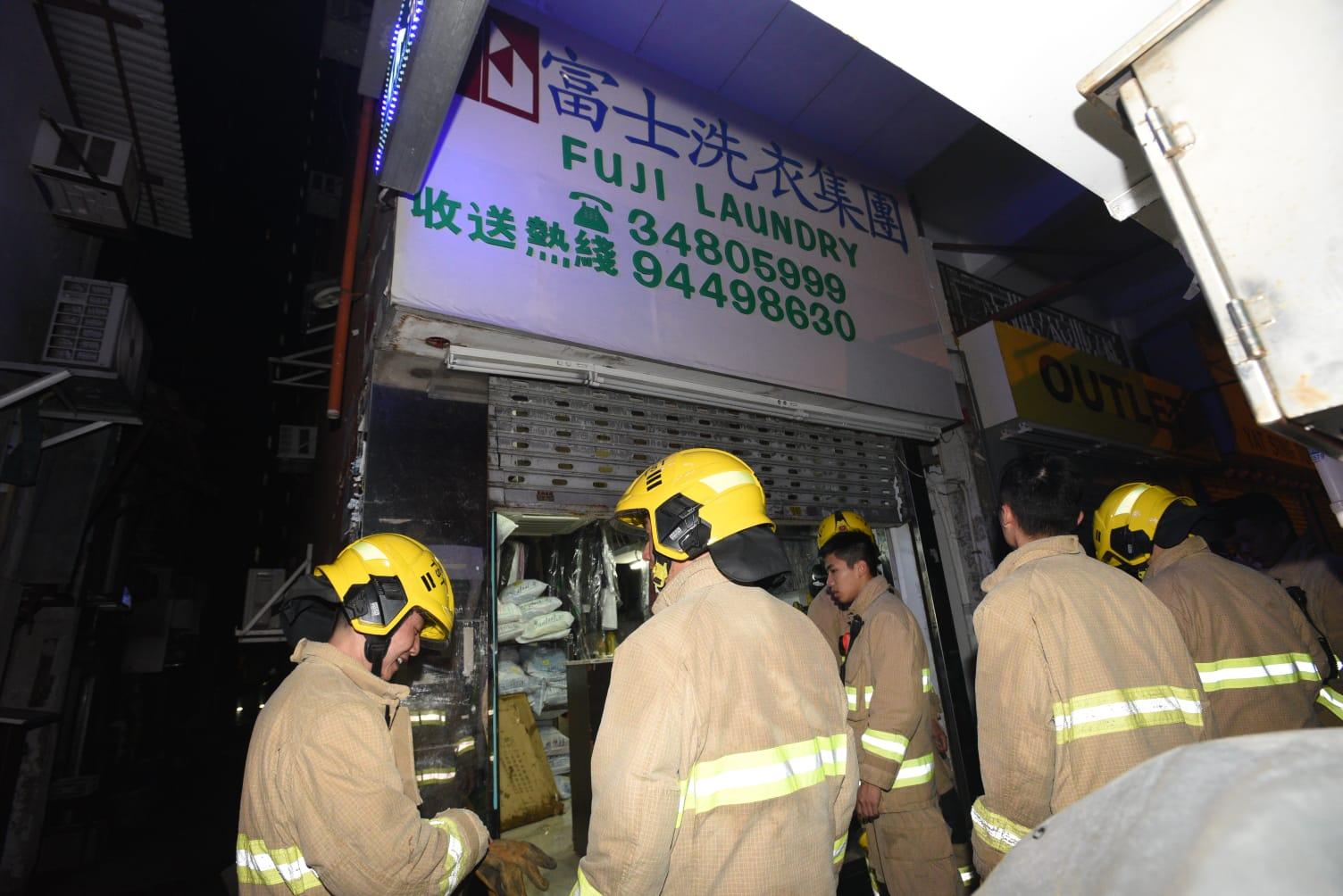 消防破門灌救,事件中無人受傷。