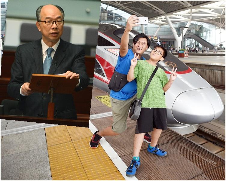 陳帆(小圖)指不少市民已選擇乘搭高鐵跨境出行。