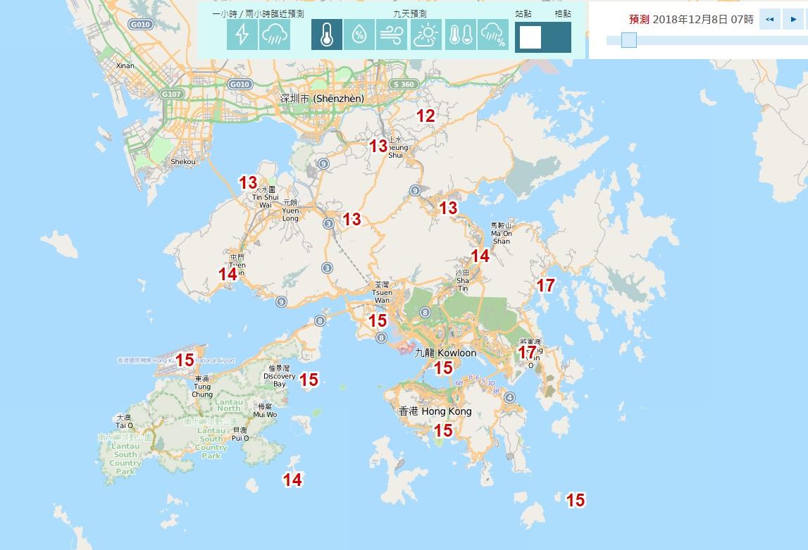 自動分區天氣預報