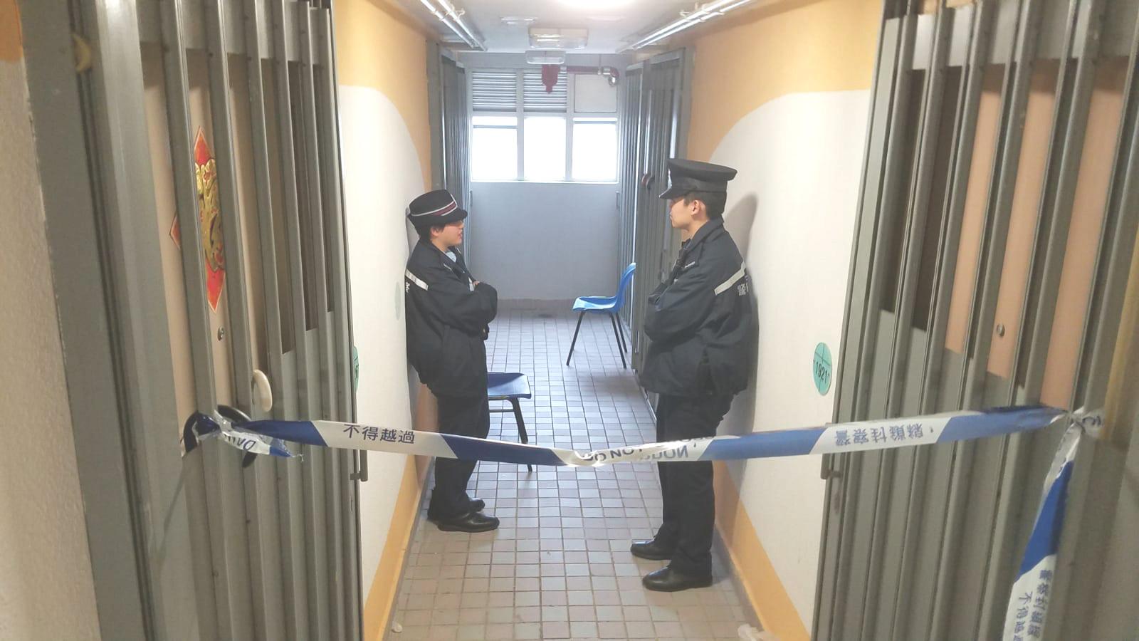 警方仍然封鎖死者單位。