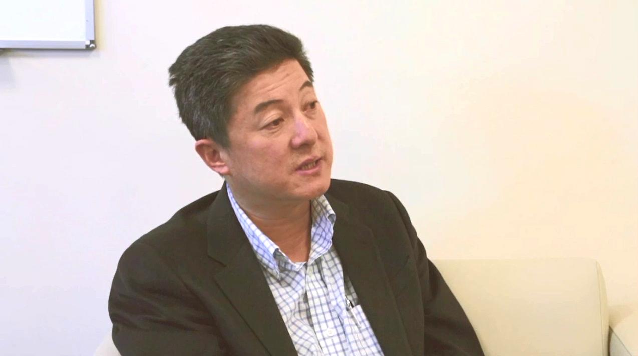 史丹福大學教授張首晟。無綫電視節目截圖