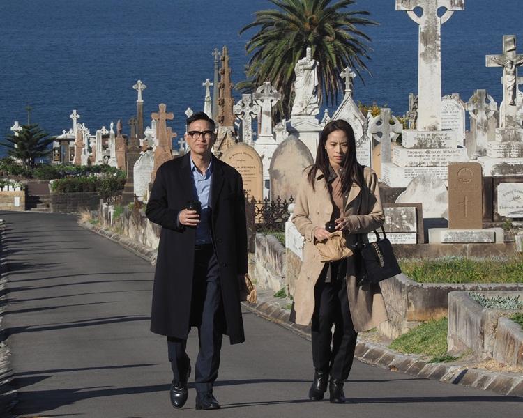 張家輝與林嘉欣在澳洲拍攝近一個月。