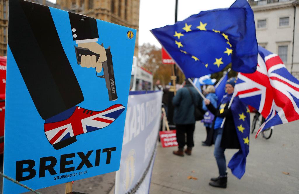 英國國内反對脫歐聲音加大。AP