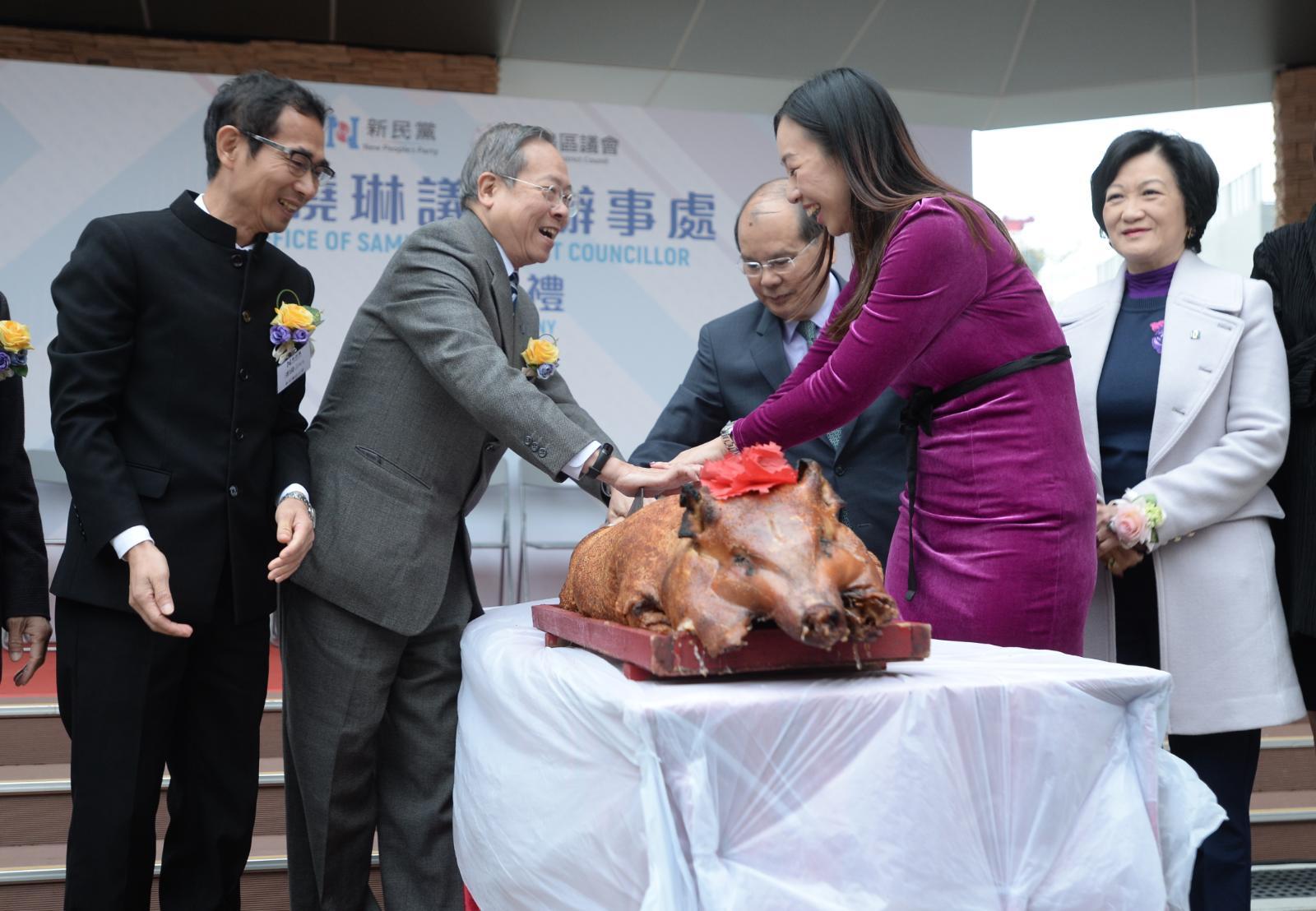 黎棟國出席傅曉琳離島區議員辦事處開幕禮
