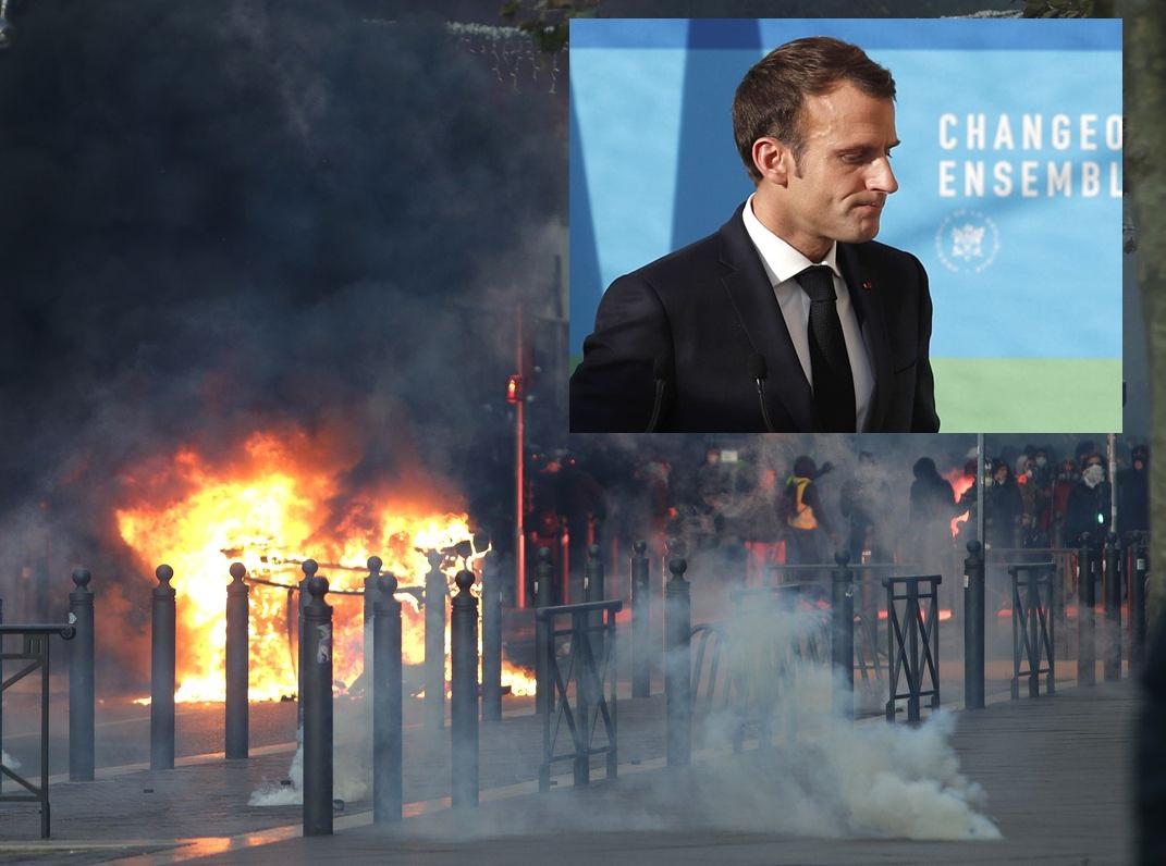 法国连续4个周末爆发黄背心示威运动造成严重破坏后,马克龙将发表全国演说。